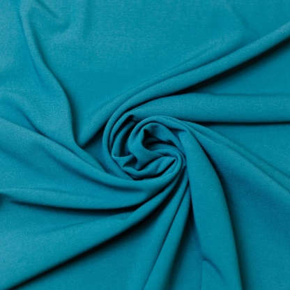 Sélection Coup de coudre - Tissu Crêpe de Viscose Mélangé Uni Couleur Noir Bleu Canard