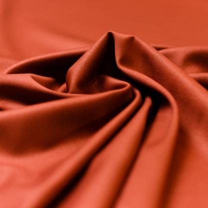 Sélection Coup de coudre - Tissu Toile de Viscose Mélangé Uni Couleur Rouge Brique