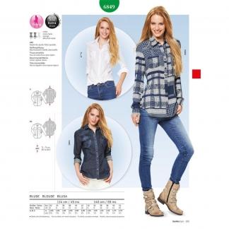 Burda Style – Patron Femme Blouse Cintrée n°6849 du 32 au 42