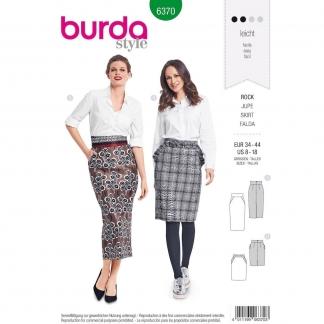 Burda Style – Patron Femme Jupe Crayon n°6370 du 34 au 44