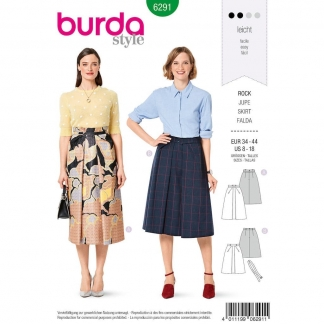 Burda Style – Patron Femme Jupe Evasée n°6291 du 34 au 44