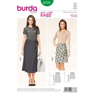 Burda Style – Patron Femme Jupe Portefeuille n°6733 du 36 au 46