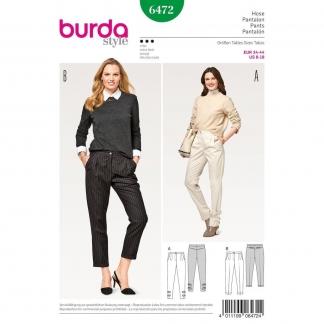 Burda Style – Patron Femme Pantalon à Pinces n°6472 du 34 au 44