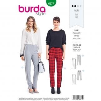Burda Style – Patron Femme Pantalon Ajusté à Bandes Latérales n°6377 du 34 au 44