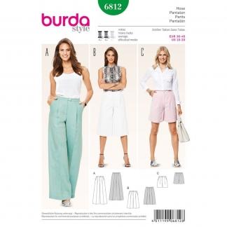 Burda Style – Patron Femme Pantalon Semi-ajusté n°6812 du 36 au 46