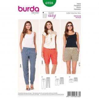 Burda Style – Patron Femme Pantalon Semi-ajusté n°6938 du 32 au 46