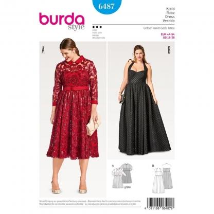 Burda Style – Patron Femme Robe en Dentelle n°6487 du 44 au 54