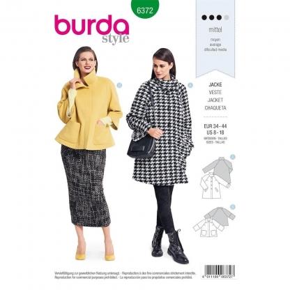 Burda Style – Patron Femme Veste Raglan n°6372 du 34 au 44