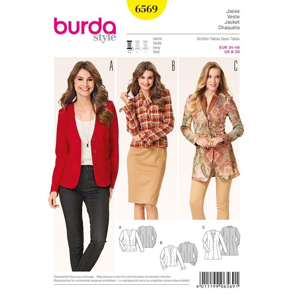 Patron Burda Veste à basque pour femmes