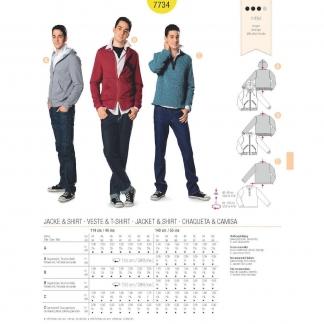 Burda Style – Patron Homme Veste Street Style n°7734 du 44 au 56