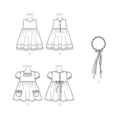 McCall's – Patron Enfant Robe et Bandeau de Tête M7375