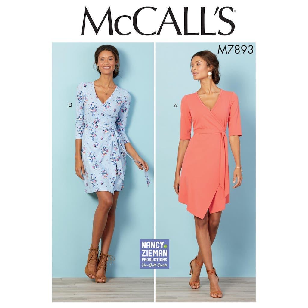 Mccall S Patron Femme Robe Portefeuille M7893 Du 38 Au 44 Coup De Coudre