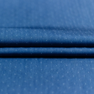 Sélection Coup de coudre - Tissu Chambray de Tencel Plumetis Couleur Bleu Jean