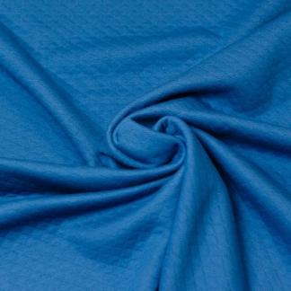 Sélection Coup de coudre - Tissu Jersey Molletonné Matelassé Double Face Uni Couleur Bleu Gris