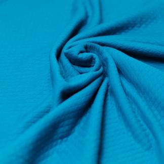 Sélection Coup de coudre - Tissu Jersey Molletonné Matelassé Double Face Uni Couleur Bleu Pétrole