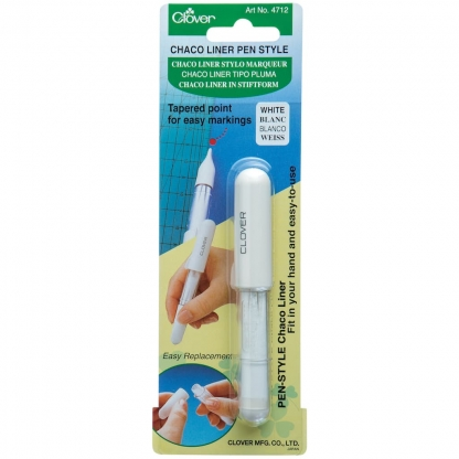 """Clover – Stylo Marqueur """"Chaco Liner"""" Coloris Blanc"""