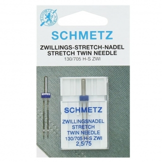 Schmetz - Aiguilles Doubles Spécial Stretch (2,5 mm)