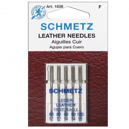 Schmetz - Set 5 Aiguilles Cuir Assorties