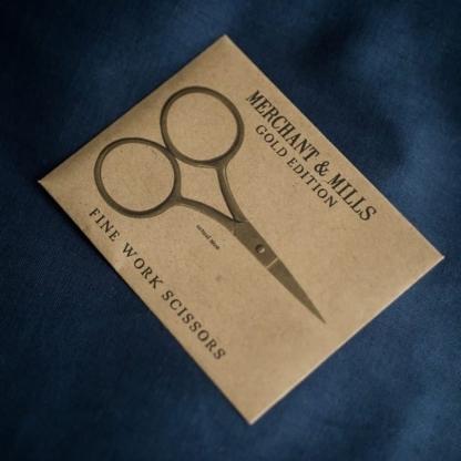 Merchant & Mills - Ciseaux de Précision Plaquées Or 24 carats (9 cm)