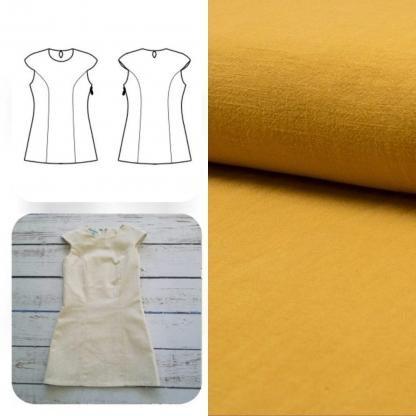 Christine Charles – Kit Couture Robe Yselda Uni Couleur Ocre