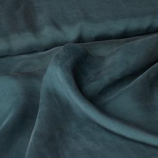 Fibre Mood - Tissu Batiste de Lyocell et Viscose Uni Couleur Vert Petrole
