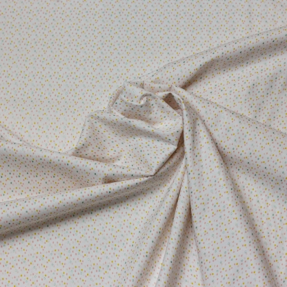 """Poppy - Tissu Popeline de Coton Imprimé Petites Gouttelettes """"Drops"""" sur le Fond Blanc"""