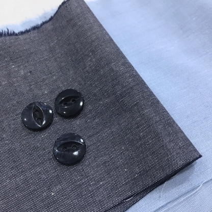 Christine Charles – Kit Couture Chemise Adelise Couleur Bleu Ciel et Bleu Marine