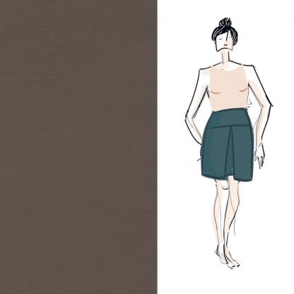 Christine Charles – Kit Couture Jupe Ambrosia - Marron