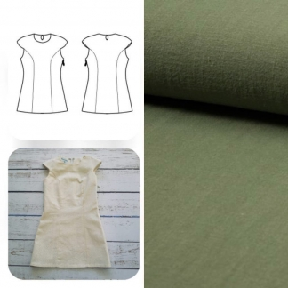 Christine Charles – Kit Couture Robe Yselda Uni Couleur Kaki