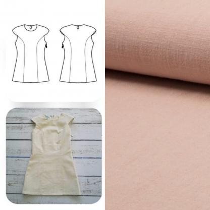 Christine Charles – Kit Couture Robe Yselda Uni Couleur Rose Saumon