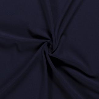 Sélection Coup de coudre - Tissu Crêpe de Viscose Mélangé Uni Couleur Bleu Marine