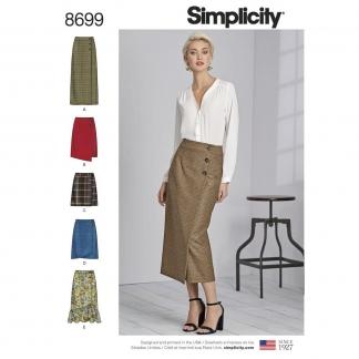 Simplicity – Patron Femme Jupes Drapées n°7081/8699
