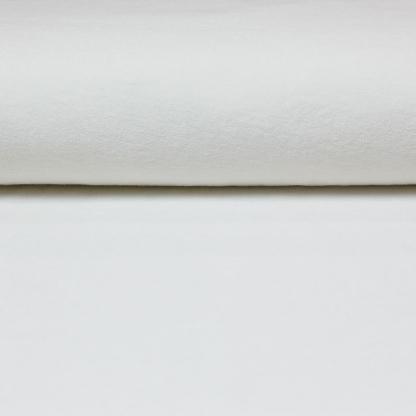 C. Pauli - Tissu Jersey Micro-éponge de Coton Bio Uni Couleur Blanc