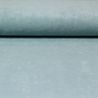 C. Pauli - Tissu Jersey Micro-éponge de Coton Bio Uni Couleur Vert d'Eau