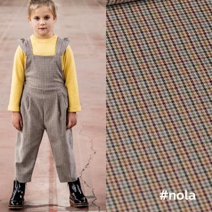 Fibre Mood – Tissu Tissé Teint de Coton Melangé aux Petits Carreaux Multicolores
