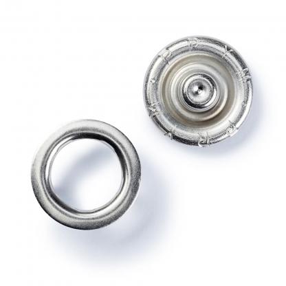 """Prym - Boite 10 Boutons Pression """"Jersey"""" Sans Couture Coloris Argent avec Outil de Pose (8 mm)"""