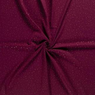 Sélection Coup de coudre - Tissu Double Gaze de Coton à Pois Dorés sur le Fond Rouge Bordeaux