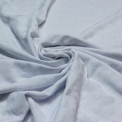 Sélection Coup de coudre - Tissu Jersey de Coton à Motif Coeurs Uni Couleur Blanc