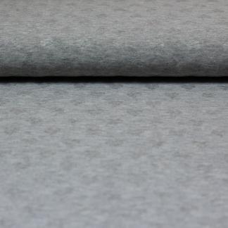 Sélection Coup de coudre - Tissu Jersey de Coton à Motif Coeurs Uni Couleur Gris Chiné