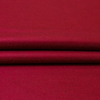 La Maison Victor - Tissu Drap de Laine Mélangé Uni Couleur Bordeaux