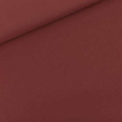 See You at Six - Tissu Jersey Sweat Léger de Coton Uni Couleur Bordeaux