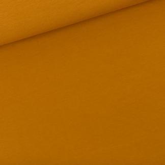 See You at Six - Tissu Jersey Sweat Léger de Coton Uni Couleur Brun Dusan