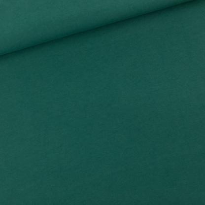 See You at Six - Tissu Jersey Sweat Léger de Coton Uni Couleur Vert Bistro