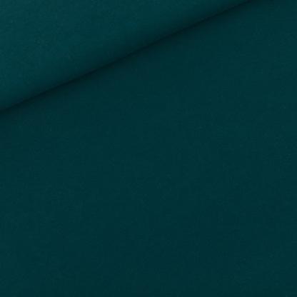 See You at Six - Tissu Jersey Sweat Léger de Coton Uni Couleur Vert Ponderosa