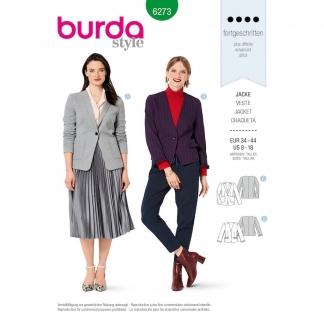 Burda Style – Patron Femme Blazer en Jersey n°6273 du 34 au 44