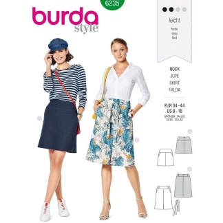 Burda Style – Patron Femme Jupe Trapeze n°6235 du 34 au 44