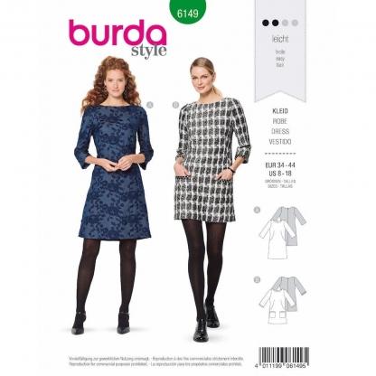 Burda Style – Patron Femme Robe n°6149 du 34 au 44