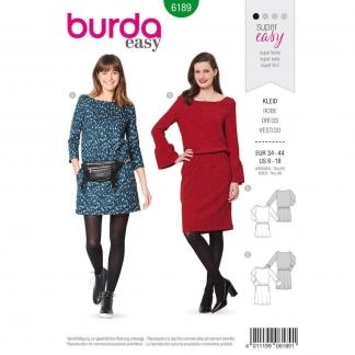 Burda Style – Patron Femme Robe n°6189 du 34 au 44