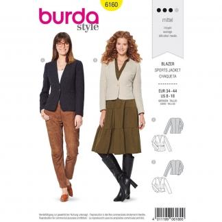 Burda Style – Patron Femme Veste Blazer n°6160 du 34 au 44