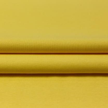 C. Pauli - Tissu Jersey Bord-Cotes de Coton Bio Uni Couleur Jaune Poussin